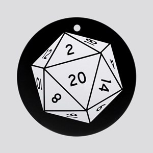 D20 Dice Round Ornament